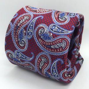 DONALD J. TRUMP Red & Blue Paisley Luxury Tie